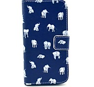 Various Elephants Pattern PU Leather Full Body Case for Samsung S4 I9500