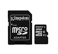 kingston clase microSDXC 32gb tarjeta de memoria flash de 10 con adaptador sd