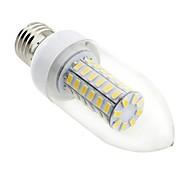 E26/E27 7 W 56 SMD 5730 700 LM Warm White C35 Candle Bulbs / Corn Bulbs AC 220-240 V