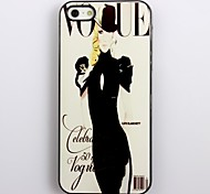 Modern Girl Design Aluminum Hard Case for iPhone 4/4S