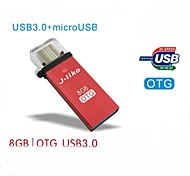 FCD-8 J-like USB 3.0 / Micro USB OTG  8G  for OTG Smartphones and PCs