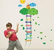 Doudouwo ® мультфильм масштабирование лестнице Детская Измерение высоты стены стикеры