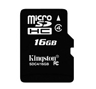 kingston 16gb classe di memory card 4 microsdhc