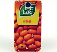 Orange Sugar Pattern Hard Case Cover for Samsung Galaxy S4 I9500