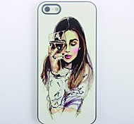 Elegant Girl Design Metal Hard Case for iPhone 4/4SElegant Girl Design Metal Hard Case for iPhone 4/4S