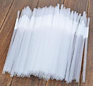 PP transparent Pailles, Ensemble de 100, L0.5cm x W0.5cm x H15cm