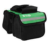 BOI 600D Polyeste Green Waterproof Wearable Cycling Frame Bag with Reflective Stripe