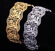 u7® горячей продажи старинные 18k коренастый позолоченные браслеты для женщин моды для мужчин браслет 20 см 20 мм