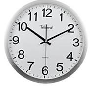 "Telesonic™ 14""H Brief Metallic Super Mute Taxiing Wall Clock"