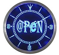 Internet @ offenen Neon-Zeichen LED-Wand-Uhr