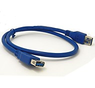 0.6M 2FT USB 3.0 Type A Male to A Female Extension Cable Blue