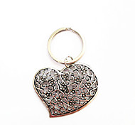 Vintage Carving Heart Bronze Alloy Keychain(1 Pc)