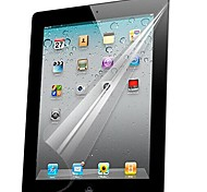Professional High Transparency LCD Crystal Clear Screen Protector with Cleaning Cloth for iPad 2/3/4