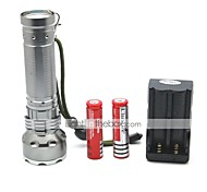 LT-FL005 Rechargeable 3 Modes 1xCree XML Q5 Led Flashlight(500LM.Built-in Battery.Silver)