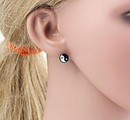 Unisex Oil Drip Eight - Diagram Pattern Allergy Free Titanium Steel Stud Earring