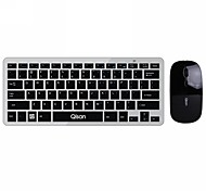 Qisan 78 Key Ultra Slim (4mm) Keyboard + 1200DPI Mouse Mini Wireless Combo Set for Desktop/PC