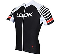 PaladinSport Men's LOOK Spring and Summer Style 100% Polyester Short Sleeved Cycling Jersey