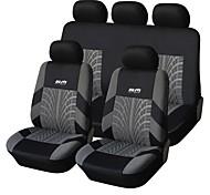 9 PCS Set Car Seat Covers Per Materiale Poliestere tecnologia Heat-Embossed universale Fit
