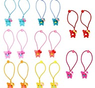 (1 pair)Fashion Multicolor Cubs Hair Ties For Kids(Random Color)