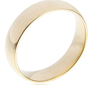 Fashion Golden Simple 316Stainless Steel Band Rings(1 Pc)