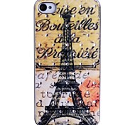 Jewel Overdekte Eiffeltoren Patroon Back Cover voor iPhone 4/4S