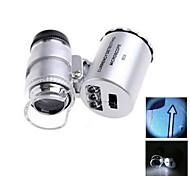 60X Mini Plastic Optical Glass Lens Magnifier  (3*LR1130)
