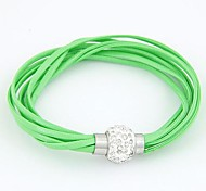 Leather Bracelet Multilayer Bright  Cortical Bracelet