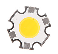 5W COB 450-500LM 3000K Warm White Light LED Chip (15-17V,300uA)