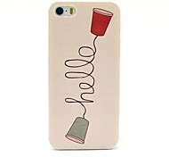 Hello Telephone Pattern Hard Case for iPhone 5/5S