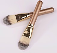 High Quality Short Golden Stick Artificial Fibre Makeup Foundation Brush