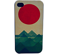 The Sea The Sun The Wave Pattern PC Hard Case for iPhone 4/4S