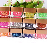 12 Colores Glitter UV Gel Slice Nail Art (8 ml, color al azar)