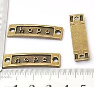 vintage belle accessoris espoir bricolage fait à la main bracelet bord de travers en alliage de bronze (10pcs)