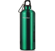 Thinker 700ml Green Stainless Steel Outdoor Cycling Water Bottle