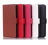 style du livre de cuir véritable de cas de stand de pochette pour LG G3