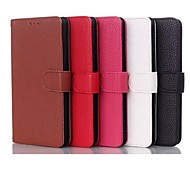 Libro de estilo del cuero genuino caja de la carpeta para LG G3