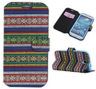 Cotton Fabrics Full Body Case with Stand and Card Slot for Samsung Galaxy S4 I9500(Assorted Colors)