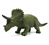 figuras de ação modelo de dinossauro triceratops borracha brinquedo (verde)