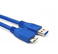 0.6M 2FT USB 3.0 A Male to Micro-B Male Extension Cable Blue