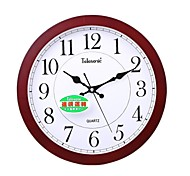 """Telesonic™ 15""""H Country Style Wood Super Mute Wall Clock"""
