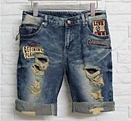 buchi rotti da uomo denim pantaloni corti