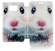 Cartoon Mouse Leather Full Body Case voor Samsung Galaxy S2 I9100