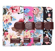 Flower Pattern PU Leather Cvoer for iPhone 6 (Assorted Colors)