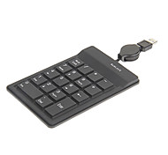 KN-188 Portable Waterproof Retractable Wired USB Numerical Keyboard
