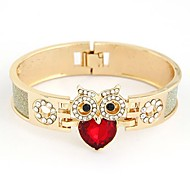 Metal Is Shining Gem Personality The Owl Bracelet