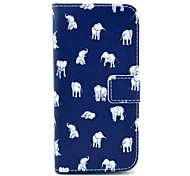 Various Elephants Pattern PU Leather Full Body Case for iPhone 6