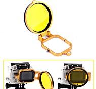 58mm de corrección de color del filtro de buceo bajo el agua del filtro w / convertidor de tirón para GoPro héroe 3