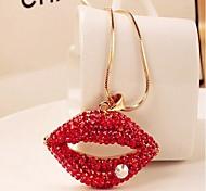 lureme®full perforar los labios atractivos largo collar de perlas