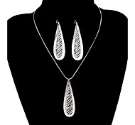 Classic Small Drop Water Shape Jewelry Set(1 Set)