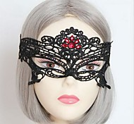 Handmade Sunproof Spice Cross-dresser Black Lace Gothic Halloween Party Mask